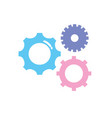 gears engineering industry process technology vector image vector image