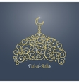 Gold Mosque Card vector image vector image