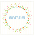 Greeting card ior invitation with flower circle vector image