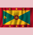grenada realistic waving flag national country vector image