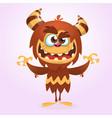 happy cute cartoon monster vector image vector image