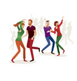 happy group of couples dancing on a white vector image