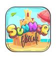 hello summer icon cartoon stylized vector image vector image