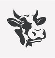 holstein smiling cow portrait stylized symbol vector image vector image