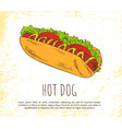 hot dog icon isolated on bright background banner vector image vector image
