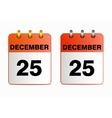 Icons of calendar with Christmas vector image vector image