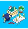 Isometric Education Concept with Students vector image vector image