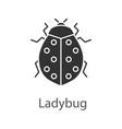 ladybug glyph icon vector image