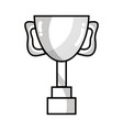 line cup prize symbol to winner of competition vector image vector image