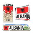 logo for albania vector image vector image