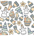 modern funny color seamless holiday pattern hand vector image