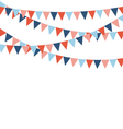 Multicolored bright buntings flags garlands vector image vector image