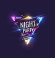 original poster for night paty geometric shapes vector image vector image