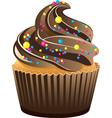 Piece of cupcake vector image