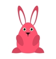 pink easter bunny icon vector image vector image