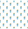 popcorn in a blue bucket pattern vector image vector image