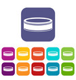 puck icons set vector image vector image