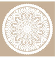 Seamless white lace pattern vector image