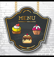 set design elements chalkboard menu sample vector image vector image