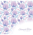 soft purple flowers frame corner pattern vector image vector image