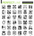 sport fitness equipment black mini concept icons vector image vector image