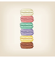stack of cute macaroons vector image vector image