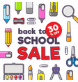 stationery icons and text vector image vector image