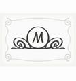 stylish graceful monogram elegant line art logo vector image vector image