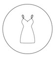 sundress combination or nightie black icon in vector image vector image