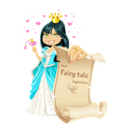 Sweetheart brunette Princess with banner vector image vector image