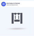 swing icon filled flat sign solid vector image vector image