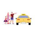 taxi flat vector image