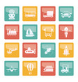 transportation travel and shipment icons vector image vector image