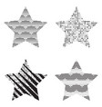 trendy star icons vector image vector image