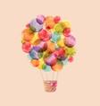 watercolor rainbow air balloons