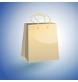 Paper Shopping Bag on blue background vector image