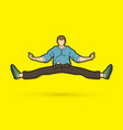 a man dancing action jumping vector image