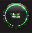abstract neon frame template on dark background vector image
