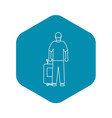 arabic man icon outline style vector image vector image