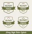 army labels vector image vector image