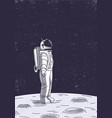 astronaut on moon surface vector image