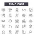 audio line icons for web and mobile design vector image
