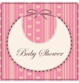 Baby shower with bib pink sprited vector image vector image