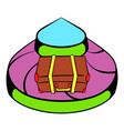 baggage on conveyor belt at the airport icon vector image vector image