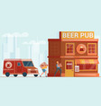 beer delivery flat vector image vector image
