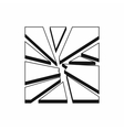 Broken glass icon simple style
