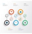 business flat icons set collection of developer vector image vector image