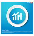 business man with growing graph icon abstract vector image