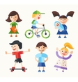 Children - flat design characters set vector image vector image