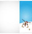 christmas reindeer white background vector image vector image